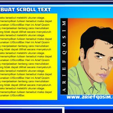 Tutorial Membuat Scroll Text dengan Flash